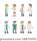 Flat design medical staffs and doctors 38876045