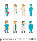Flat design medical staffs and doctors 38876046