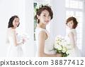 新娘 婚禮 一個年輕成年女性 38877412