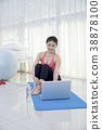 Healthy lifestyle - beautiful female fitness, doing yoga exercises and relax. Healthy eating and managing for healthy lifestyle. Concept photography. 207 38878100