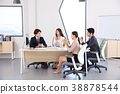 Young business people  - Group of Business people or colleague meeting in office to discuss project. teamwork concept photo. 060 38878544