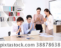 Young business people  - Group of Business people or colleague meeting in office to discuss project. teamwork concept photo. 107 38878638