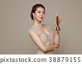 Beauty stylish asian women posing in fashionable clothes isolated White background. 028 38879155