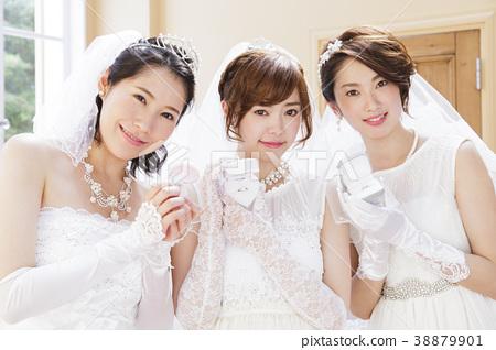 웨딩 신부 여성 결혼 신부 38879901