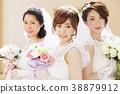 แต่งงานเจ้าสาวผู้หญิงแต่งงานเจ้าสาว 38879912
