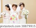 แต่งงานเจ้าสาวผู้หญิงแต่งงานเจ้าสาว 38879915