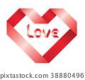 ribbon heart 38880496