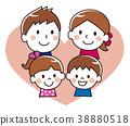 가족 미소 하트 38880518