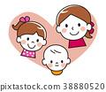 부모와 자식 미소 하트 38880520
