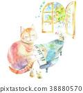 피아노를 연주하는 고양이와 쥐들 38880570