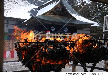 Chusonji Temple Goma smoked by snow 38881239