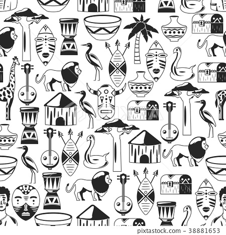 Seamless african pattern  Travel to Africa ethnic - Stock