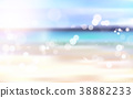 Beautiful Blurred Beach Seaside Bokeh Landscape 38882233