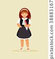 Schoolgirl with books 38883167