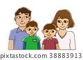 4 인 가족 형제 집합 38883913