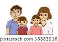 4 인 가족 남매 집합 38883916