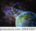 satellite space orbit 38883967