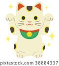 마네키네코, 고양이 장식물, 복고양이 38884337