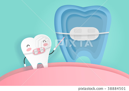 tooth with dental care 38884501