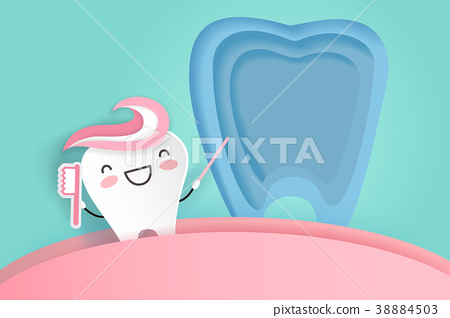 tooth with dental care 38884503
