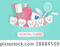tooth with dental care 38884509