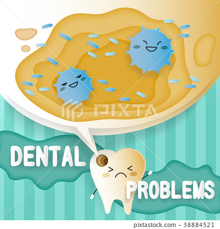 tooth with decay problems 38884521