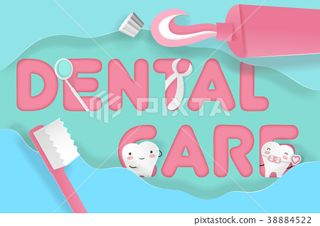 tooth with dental care 38884522