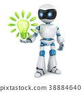 bulb, robot, 3d 38884640