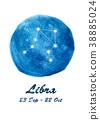 Libra constellation icon of zodiac sign Libra 38885024