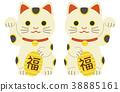 招财猫 吉祥物 幸运符 38885161