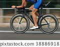Motion blur of a bike race with the bicycle 38886918
