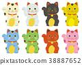 กวักมือเรียกแมวโชคดีไม่มีรูปไข่ 38887652