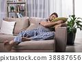 man, male, sofa 38887656
