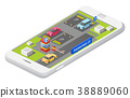 Vector isometric smart parking concept 38889060