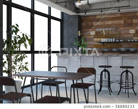 室內圖像咖啡館 38889233