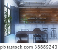 室內圖像咖啡館 38889243