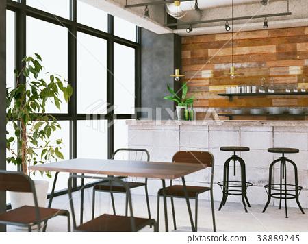 室內圖像咖啡館 38889245