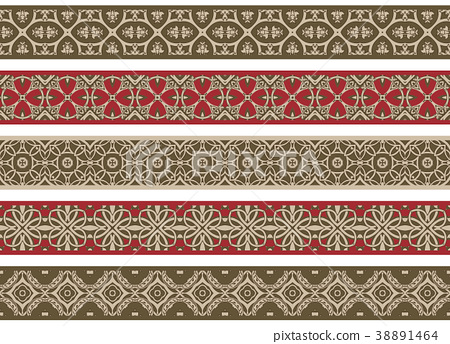 Seamless decorative borders 38891464