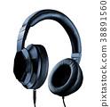Headphones Isolated on White Background 38891560
