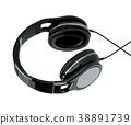 Headphones Isolated on White 38891739