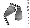 Golf clubs isolated 38892461
