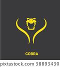 vector dangerous cobra snake head with hood logo 38893430