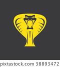 vector dangerous cobra snake head with hood logo 38893472