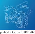 motorcycle, motorbike, vector 38893582