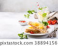Sandwich with pineapple, 38894156
