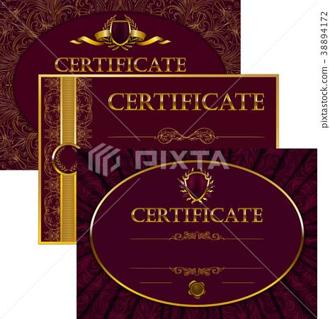Elegant template of certificate, diploma 38894172
