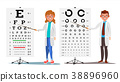 Ophthalmology Doctor Set Vector. Female, Male 38896960