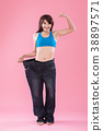 woman show weight loss 38897571