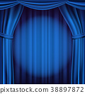blue, curtain, spotlight 38897872