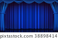 blue, curtain, theater 38898414